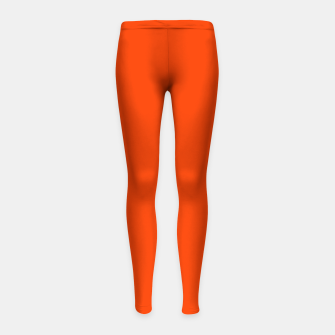 Fluorescent Attack Orange Neon Girl's Leggings imagen en miniatura