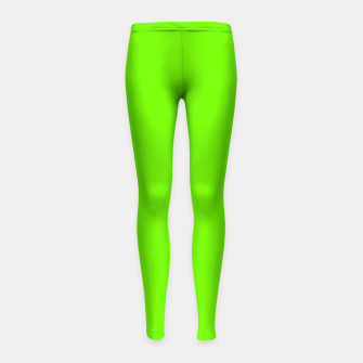 Bright Fluorescent Green Neon Girl's leggings imagen en miniatura