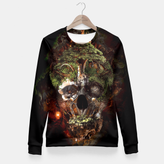 Thumbnail image of Skull Castle Fitted Waist Sweater, Live Heroes