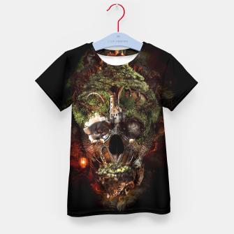 Thumbnail image of Skull Castle Kid's T-shirt, Live Heroes
