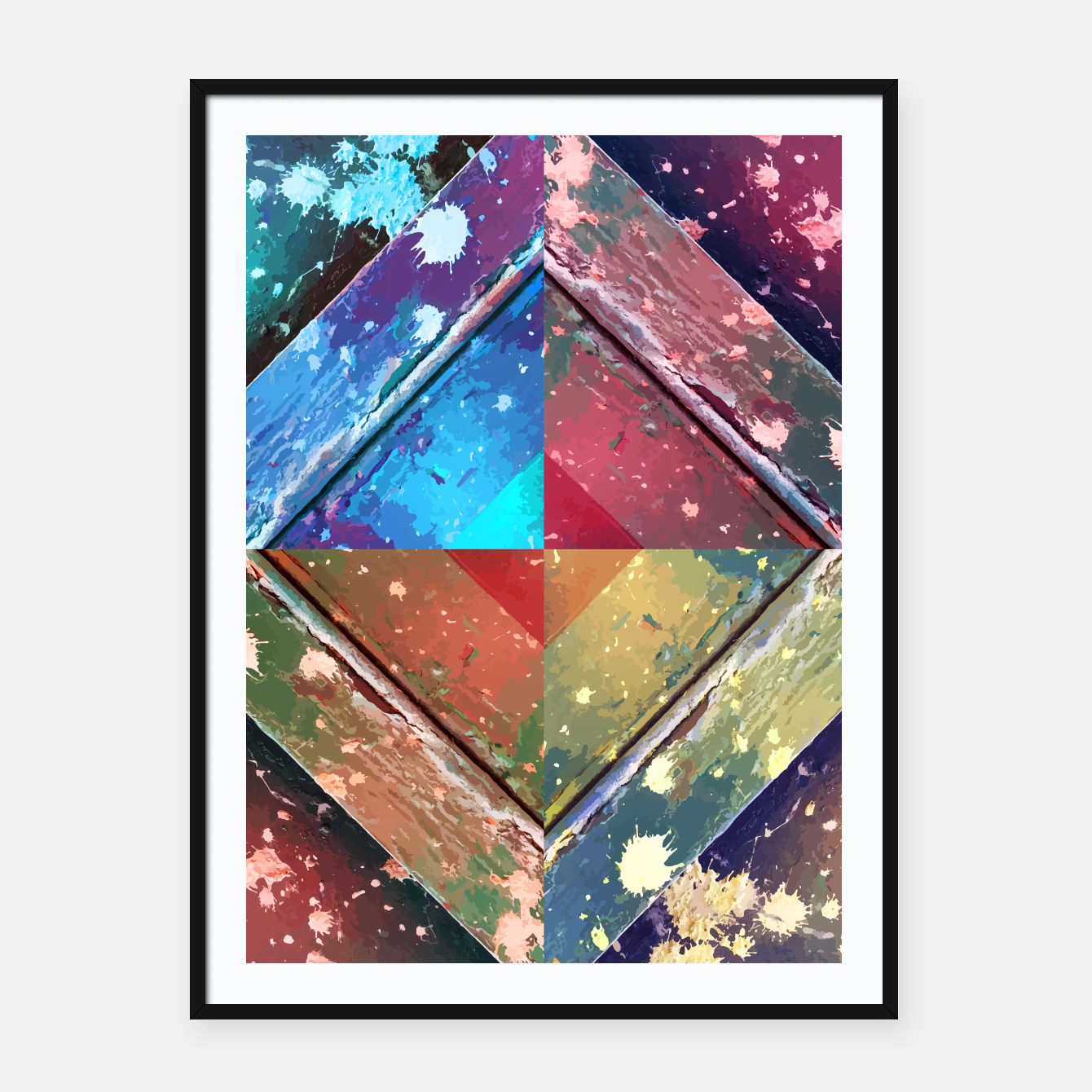 Image of Four seasons Framed poster - Live Heroes