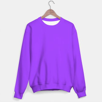 Fluorescent Day glo Purple Neon Sweater imagen en miniatura