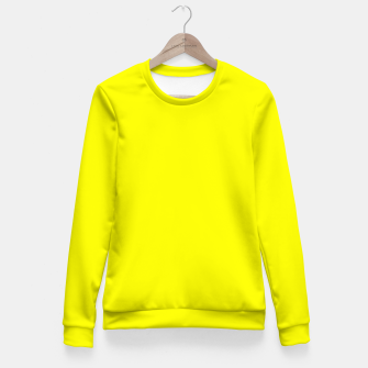 Bright Fluorescent Yellow Neon Fitted Waist Sweater thumbnail image
