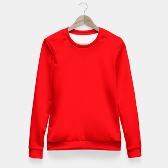 Fluorescent Fireball Red Neon Fitted Waist Sweater thumbnail image