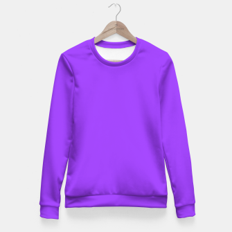Fluorescent Day glo Purple Neon Fitted Waist Sweater thumbnail image