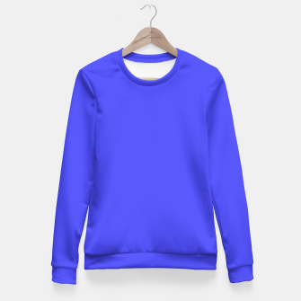 Electric Fluorescent Blue Neon Fitted Waist Sweater thumbnail image