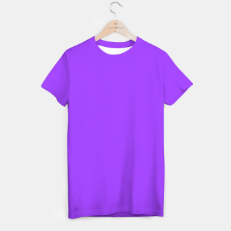 Fluorescent Day glo Purple Neon T-shirt imagen en miniatura