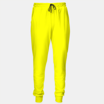Bright Fluorescent Yellow Neon Sweatpants thumbnail image