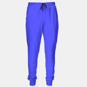 Electric Fluorescent Blue Neon Sweatpants thumbnail image