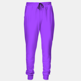 Fluorescent Day glo Purple Neon Sweatpants imagen en miniatura