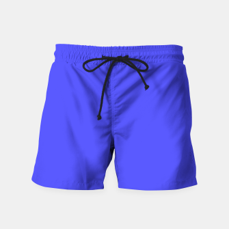 Electric Fluorescent Blue Neon Swim Shorts thumbnail image