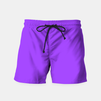 Fluorescent Day glo Purple Neon Swim Shorts imagen en miniatura