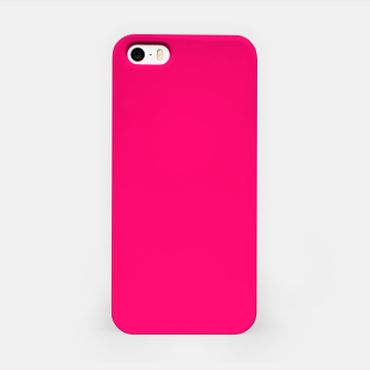 Bright Fluorescent Pink Neon iPhone Case thumbnail image