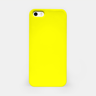 Bright Fluorescent Yellow Neon iPhone Case thumbnail image