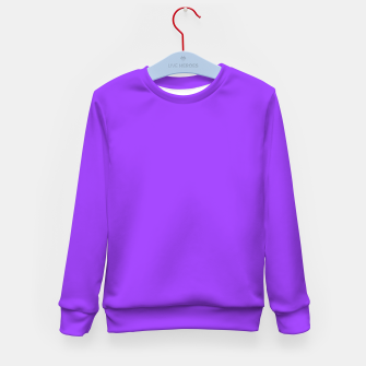 Fluorescent Day glo Purple Neon Kid's Sweater imagen en miniatura