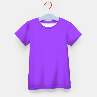 Fluorescent Day glo Purple Neon Kid's T-shirt imagen en miniatura