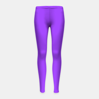 Fluorescent Day glo Purple Neon Girl's Leggings imagen en miniatura