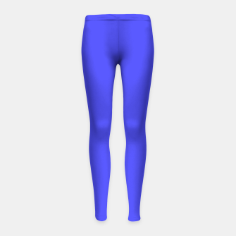 Electric Fluorescent Blue Neon Girl's Leggings thumbnail image
