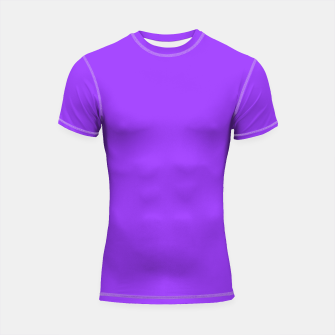Fluorescent Day glo Purple Neon Shortsleeve Rashguard thumbnail image
