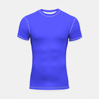 Electric Fluorescent Blue Neon Shortsleeve Rashguard thumbnail image