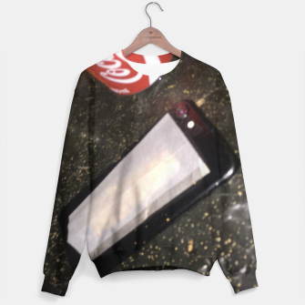 Thumbnail image of E G G S on toast Sweater, Live Heroes