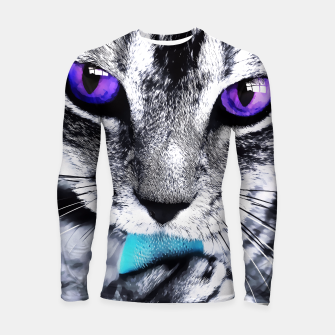 Purple eyes cat Longsleeve Rashguard  thumbnail image