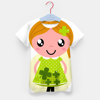 Thumbnail image of Kids hand-drawn tshirt with Green girl, Live Heroes