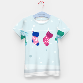 Thumbnail image of Kids t-shirt with hand-drawn SOCKS, Live Heroes