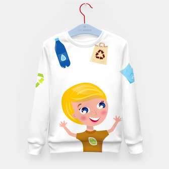 Thumbnail image of Kids sweater with Original art Illustration, Live Heroes