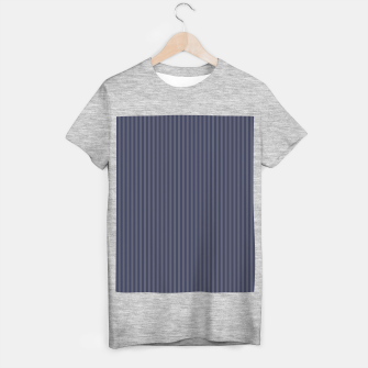 Miniaturka Striped lined print in navy colors T-shirt regular, Live Heroes