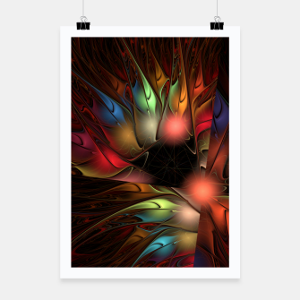 Thumbnail image of colors on black Poster, Live Heroes