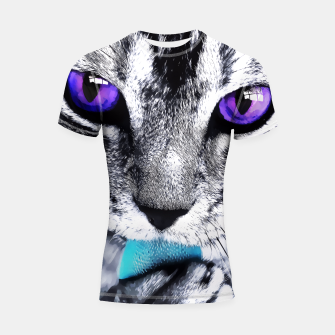 Purple eyes cat Shortsleeve Rashguard obraz miniatury