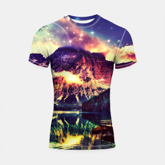 Thumbnail image of Night Sky at the lake Shortsleeve Rashguard, Live Heroes