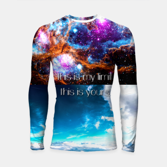 This is my limit this is yours Longsleeve Rashguard  obraz miniatury