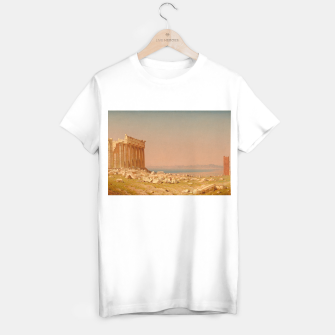 Miniatur Ruins of the Parthenon Athenian Acropolis Greece Oil Painting  T-shirt regular, Live Heroes