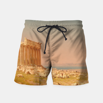 Thumbnail image of Ruins of the Parthenon Athenian Acropolis Greece Oil Painting  Swim Shorts, Live Heroes