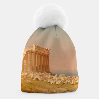 Thumbnail image of Ruins of the Parthenon Athenian Acropolis Greece Oil Painting  Beanie, Live Heroes