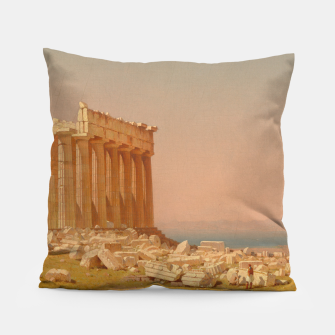 Thumbnail image of Ruins of the Parthenon Athenian Acropolis Greece Oil Painting  Pillow, Live Heroes