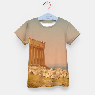 Thumbnail image of Ruins of the Parthenon Athenian Acropolis Greece Oil Painting  Kid's T-shirt, Live Heroes
