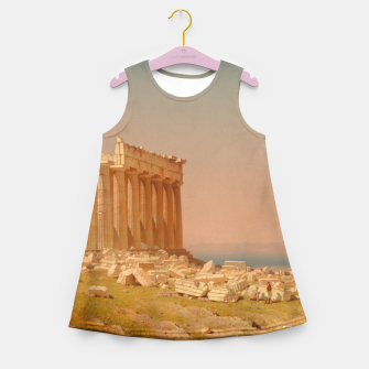 Thumbnail image of Ruins of the Parthenon Athenian Acropolis Greece Oil Painting  Girl's Summer Dress, Live Heroes
