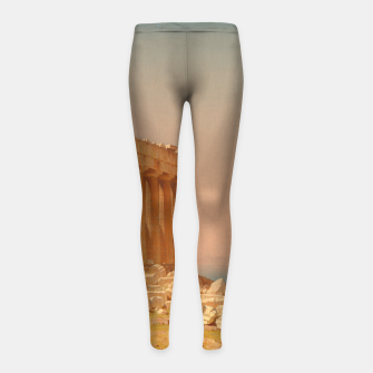 Thumbnail image of Ruins of the Parthenon Athenian Acropolis Greece Oil Painting  Girl's Leggings, Live Heroes