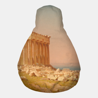 Thumbnail image of Ruins of the Parthenon Athenian Acropolis Greece Oil Painting  Pouf, Live Heroes
