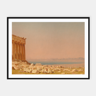 Thumbnail image of Ruins of the Parthenon Athenian Acropolis Greece Oil Painting  Framed poster, Live Heroes
