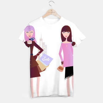 Thumbnail image of T-Shirt with Original illustration : Model girls, Live Heroes