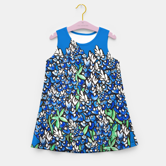 Thumbnail image of Texas Bluebonnets Girl's Summer Dress, Live Heroes
