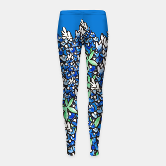 Thumbnail image of Texas Bluebonnets Girl's Leggings, Live Heroes