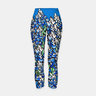 Thumbnail image of Texas Bluebonnets Yoga Pants, Live Heroes