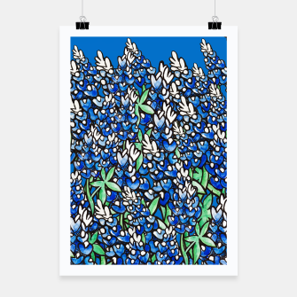 Thumbnail image of Texas Bluebonnets Poster, Live Heroes