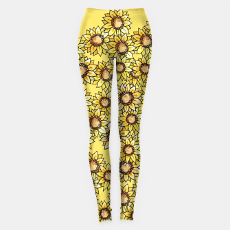 Thumbnail image of Sunflowers everywhere summer sun Leggings, Live Heroes