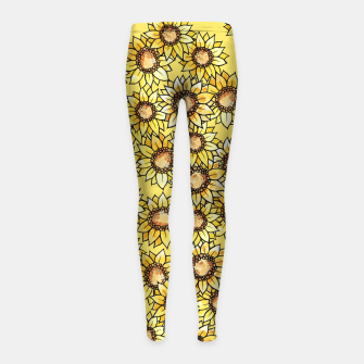 Thumbnail image of Sunflowers everywhere summer sun Girl's Leggings, Live Heroes